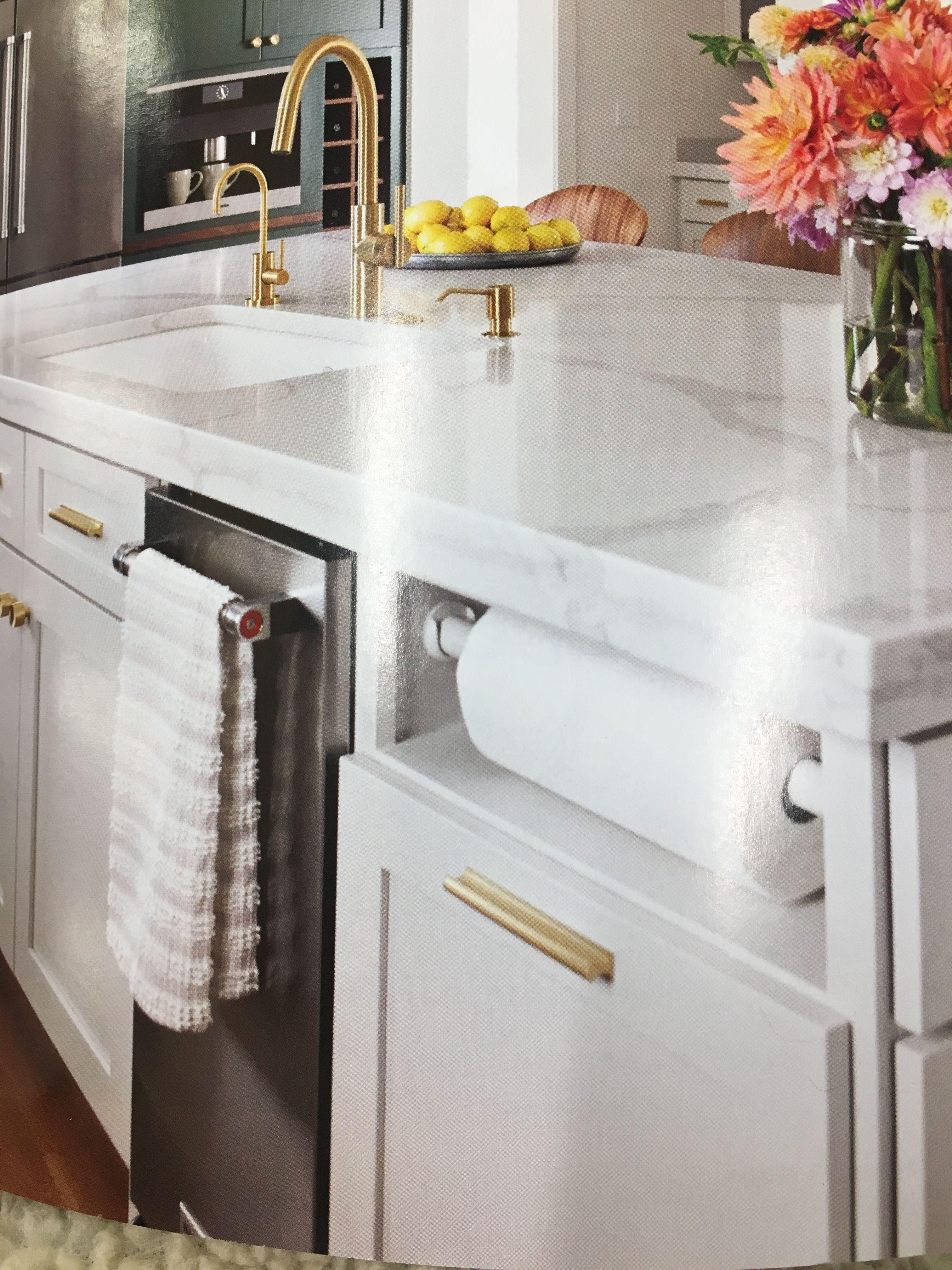 Nice Countertop And Interesting Paper Towel Rack Kitchen Countertops Towel Rack