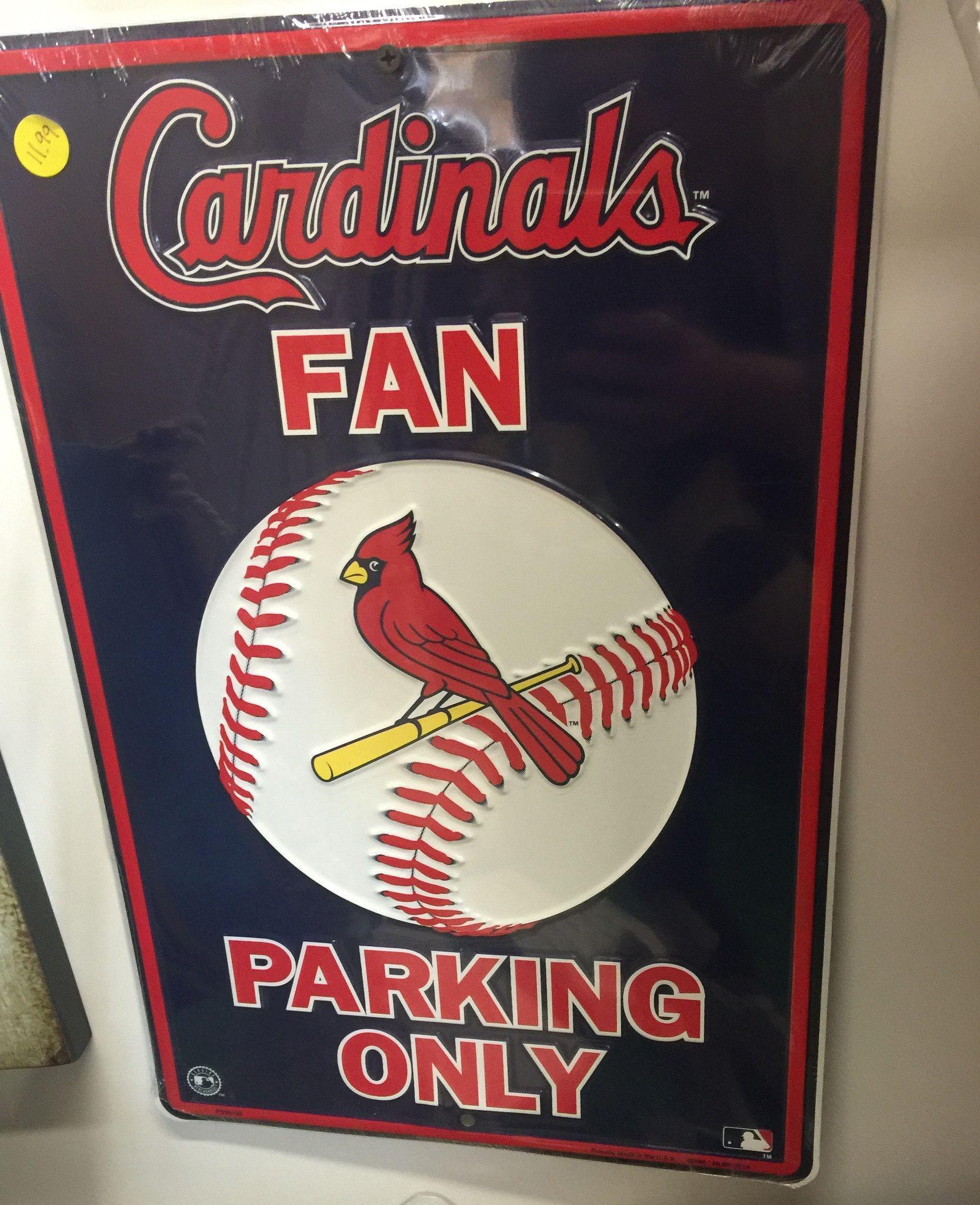 Cardinals Fan Parking Only Tin Sign