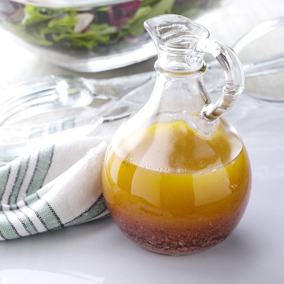 Italian Herb Salad Dressing Recipe -This recipe rounds out a meal. It's a delicious dressing that I like to keep on hand for topping a variety of salad greens.—Dan Wright, San Jose, California