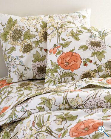 Signature Vintage Floral Flannel Bedding Garnet Hill Love This