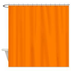 Solid Orange Shower Curtain Solid Colors Shower Curtains World Orange Shower Curtain Solid Color Shower Curtain Shower Curtain