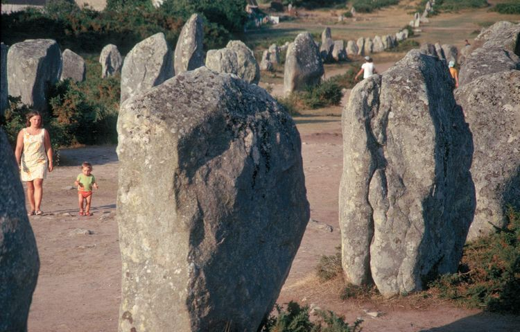 Menhir Alignment. Carnac, France. Neolithic. 4000 BC.