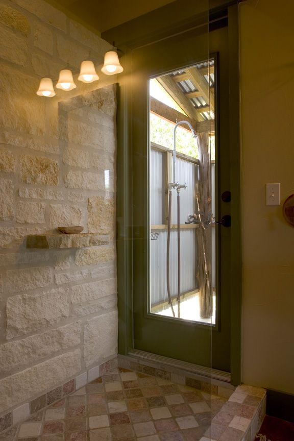 indoor outdoor shower bathrooms pinterest indoor