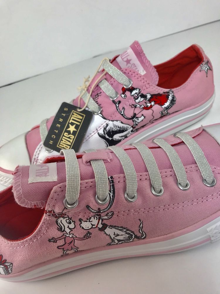 732faaf044ab Converse How The Grinch Stole Christmas Mens 6 Womens 8 Cindy Lou Who Pink  Shoes
