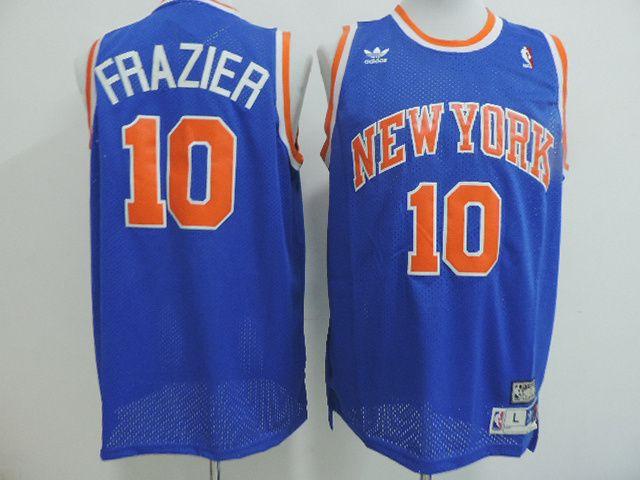 sale retailer f8d5a 4641b Walt Frazier New York Knicks throwback Jersey blue #10 ...
