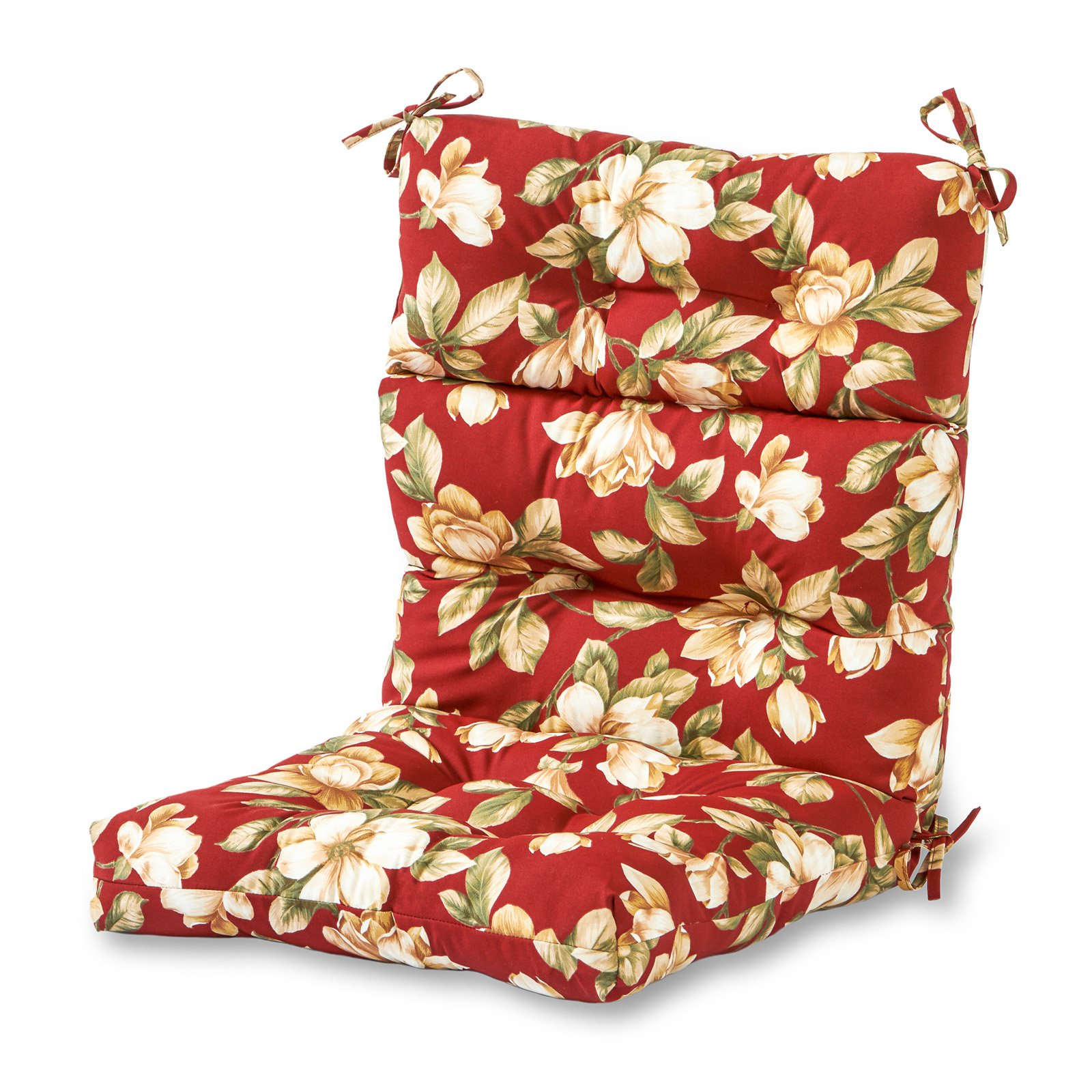 Greendale Home Fashions 44 X 22 In Outdoor High Back Chair Cushion Roma Floral Outdoor Chair Cushions Outdoor Lounge Chair Cushions High Back Dining Chairs
