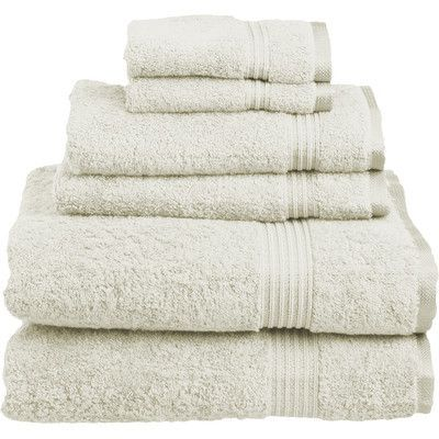 Maison Condelle Sandra Venditti 6 Piece Towel Set Color: Ivory