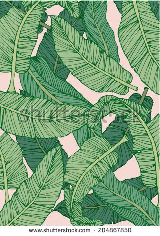 banana leaf print photo - Google Search