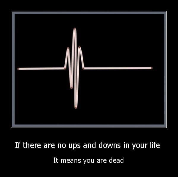 Ups Downs Mean You Re Alive Me Quotes Words Quotable Quotes