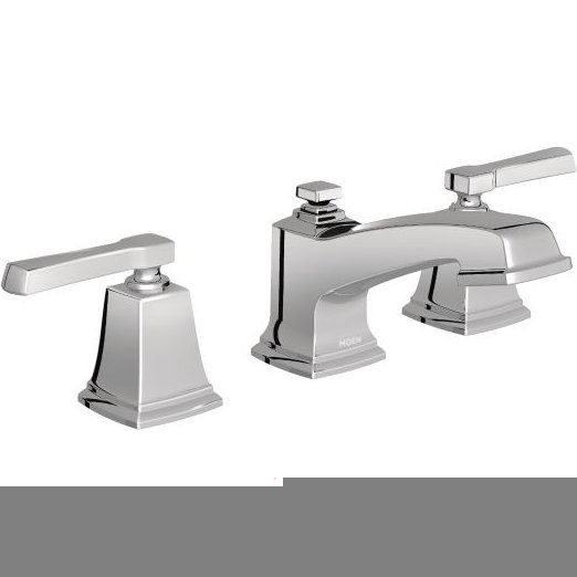 Moen T6220 Boardwalk Chrome Two Handle Widespread Bathroom Faucet Sink Faucets Widespread Bathroom Faucet Faucet