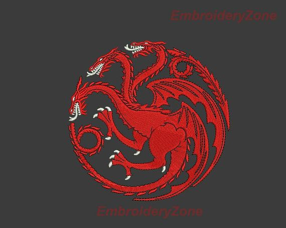 logo house targaryen game of thrones embroidery о�
