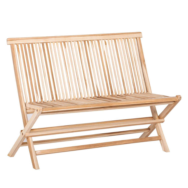 49€90 C&L Jardin - Banc de Jardin pliant Kaya 100cm Teck - Chaise ...