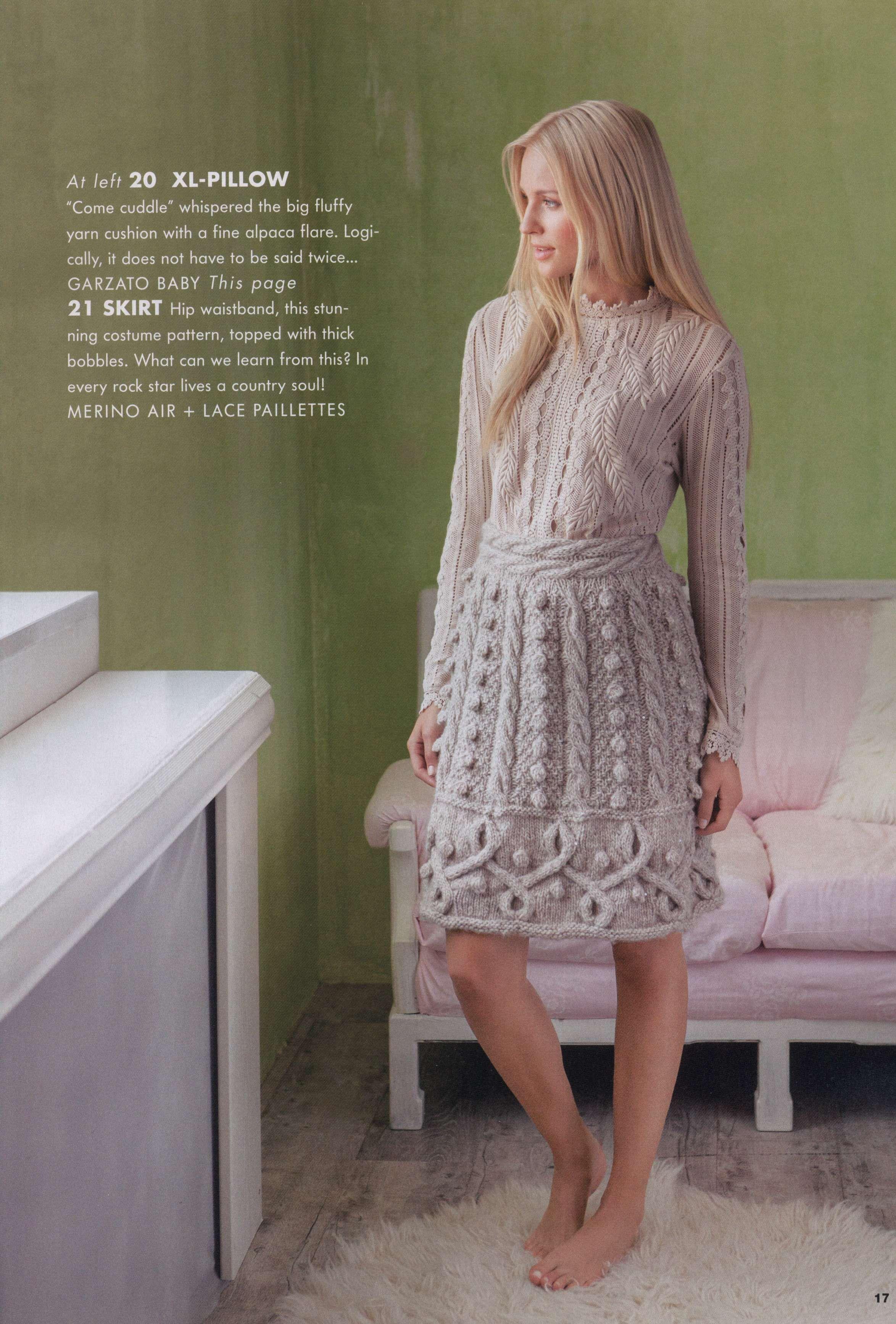 Skirt (hand knit) from magazine: FILATI HANDKNITTING №54 2013 (with diagrams)