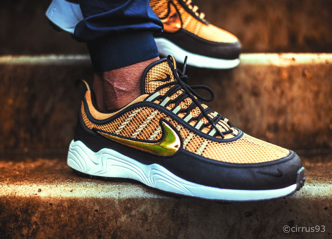 Nike Air Zoom Spiridon - Black/Gold - 2016 (by Tresor Temuni)