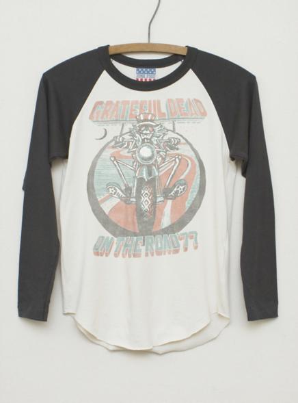 Kids Boys Grateful Dead All American Raglan - Kid's Boys New Arrivals - Long Sleeve - Junk Food Clothing