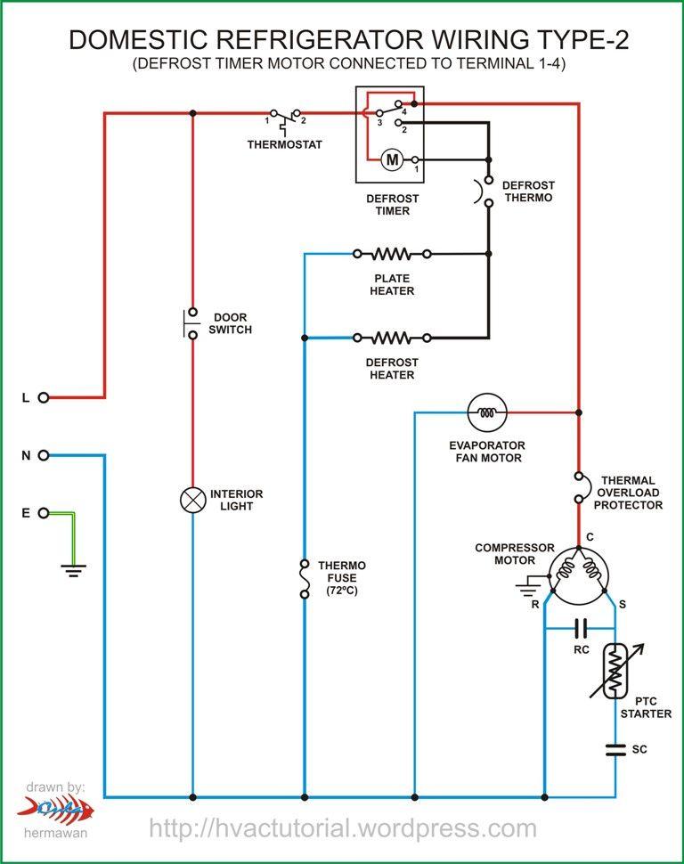 Refrigerator Wiring Type-2 in 2020 | Circuit diagram, Electrical circuit  diagram, Electrical wiring diagrampinterest.ch