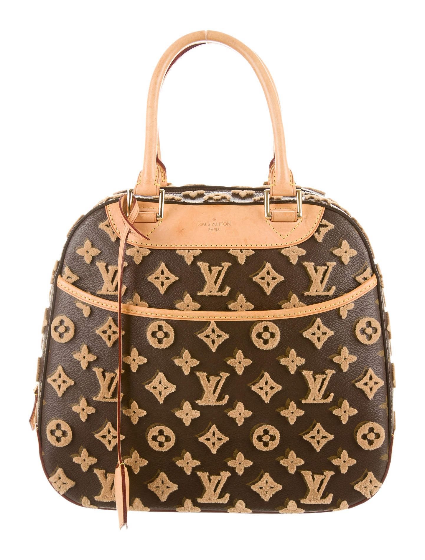 Embossed Tuffetage Deauville Cube Bag Louis Vuitton Bags Louis
