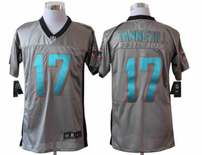 366051e7 Mens Nike Miami Dolphins #17 Ryan Tannehill NFL Jersey Gray | Miami ...