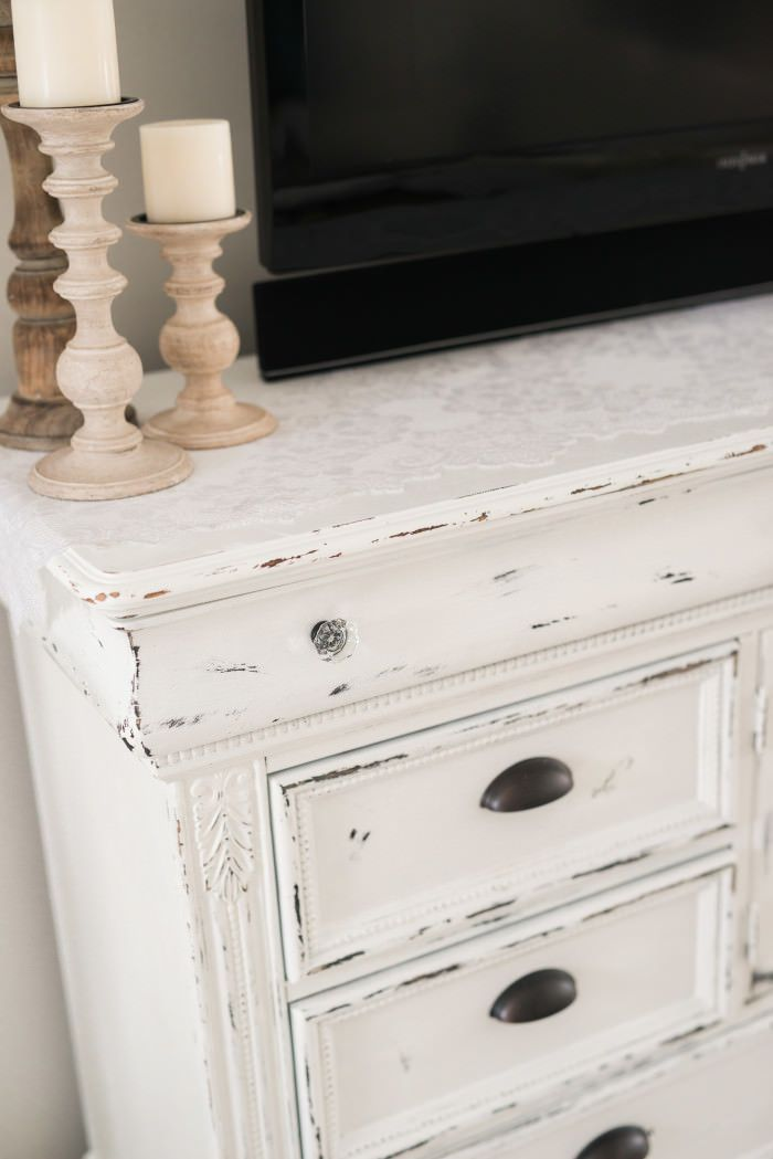 Diy Distressed Tv Console Cabinet Projects For Chad