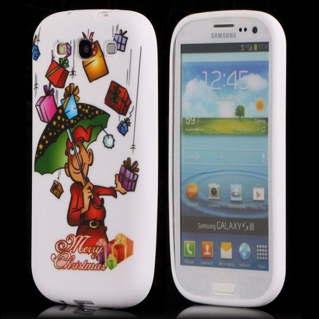 Merry Christmas (Sateenvarjo) Samsung Galaxy S3 Silikonisuojus - http://lux-case.fi/merry-christmas-sateenvarjo-samsung-galaxy-s3-silikonisuojus.html