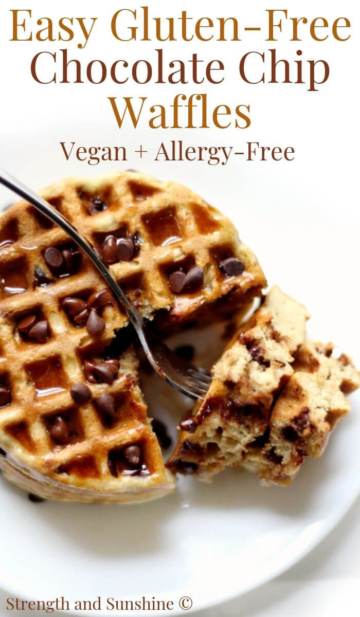 Photo of Easy Gluten-Free Chocolate Chip Waffles (Vegan, Allergy-Free)