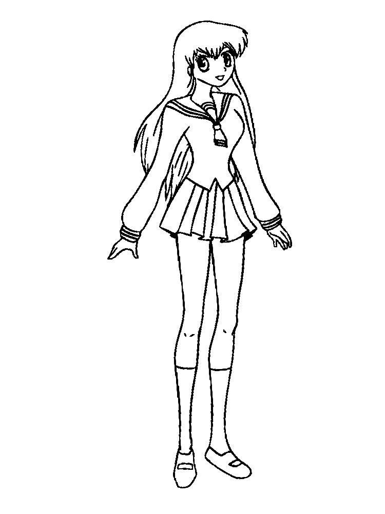 Dibujos Para Colorear Anime Para Ninas Y Ninos Colorear Anime