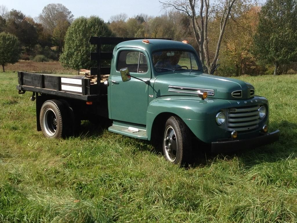 1949 Ford F5 Flatbed Dually Truck With Images Old Ford Trucks