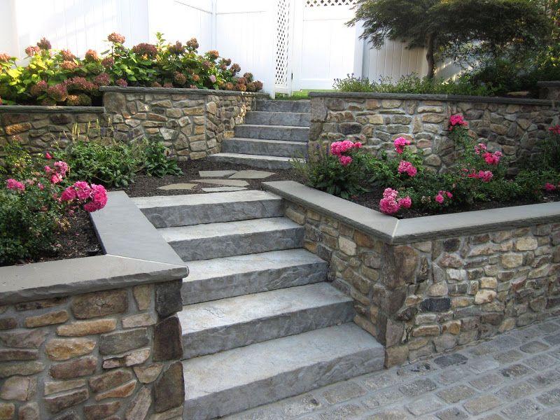Landscape Design Custom Masonry Retaining Walls Garden Entrance Retaining Wall Garden Stairs