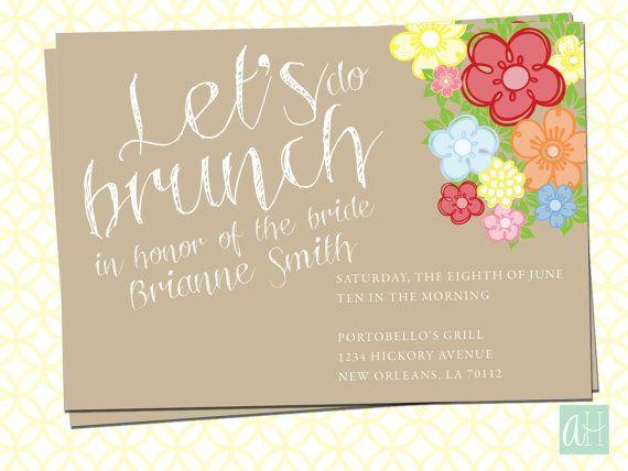 Printable Bridal Brunch Invitation Let S Do Brunch From