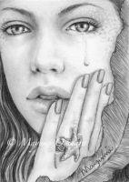 Tears of a Mermaid - ACEO by MayumiOgihara