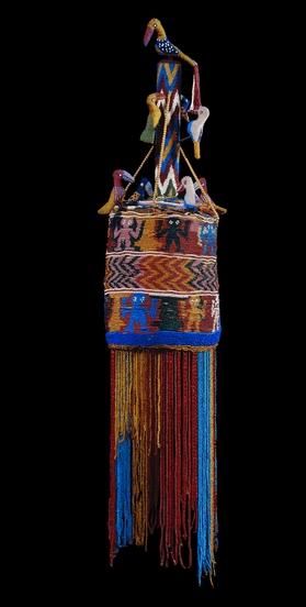 Beaded and veiled crowns (ade ileke), 19th century AD, Yoruba, Nigeria.