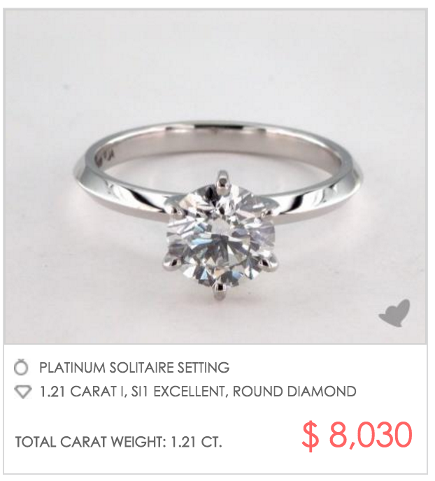 Copy Tiffany Co Signature Sparkle With A True Hearts Diamond From James Allen And This