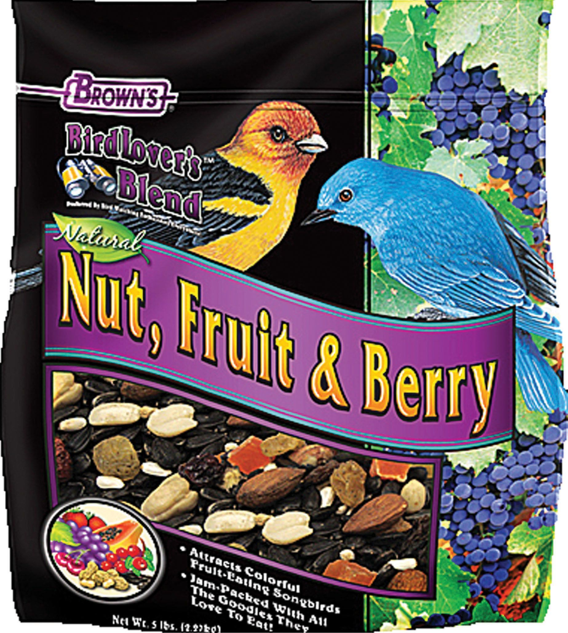 Bird lovers blend fruit nut and berry blend fruits