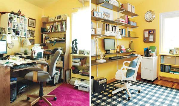 Feng Shui Home Office Before And After Organize Schmorganize