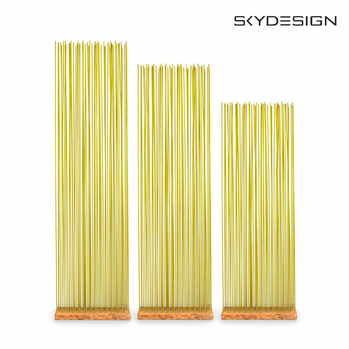 Sichtschutz gelb Basis Bambus Balkonsichtschutz in Gelb