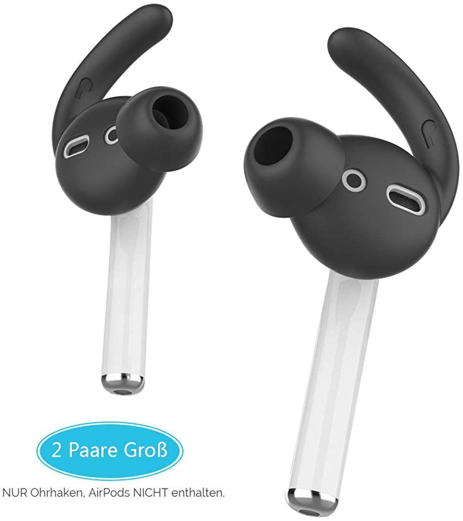 2 Pairs Silicone Ear Pad Cover Earphone Headphone Earbud Hook For Phone Headset