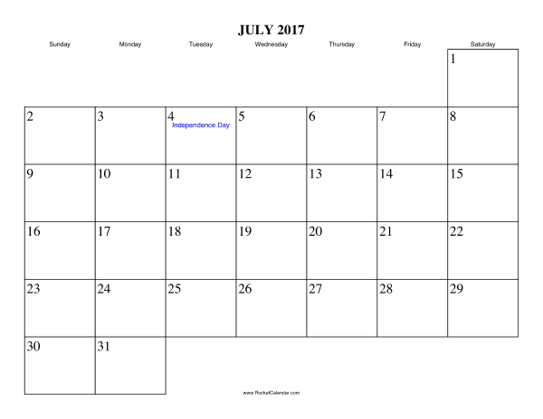 free printable calendar for july 2017 view online or print in pdf