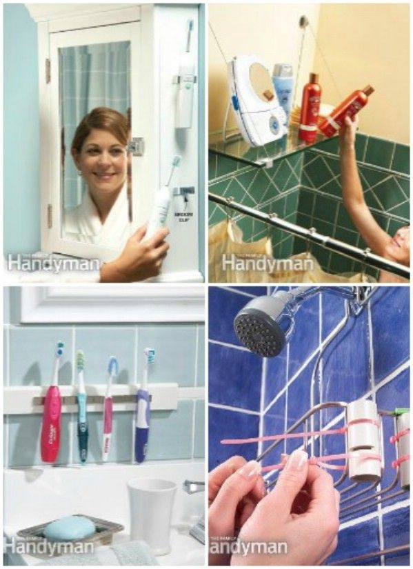 5 DIY Bathroom Storage - 30 Brilliant Bathroom Organization and Storage DIY Solutions  Hooks to hold sonic brushes