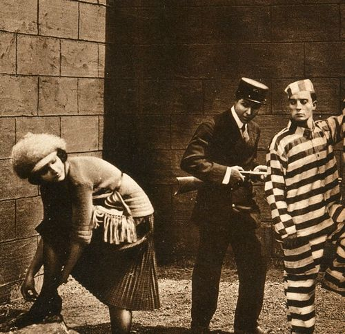 Sybil and Buster - a publicity shot from Convict 13 - 1920