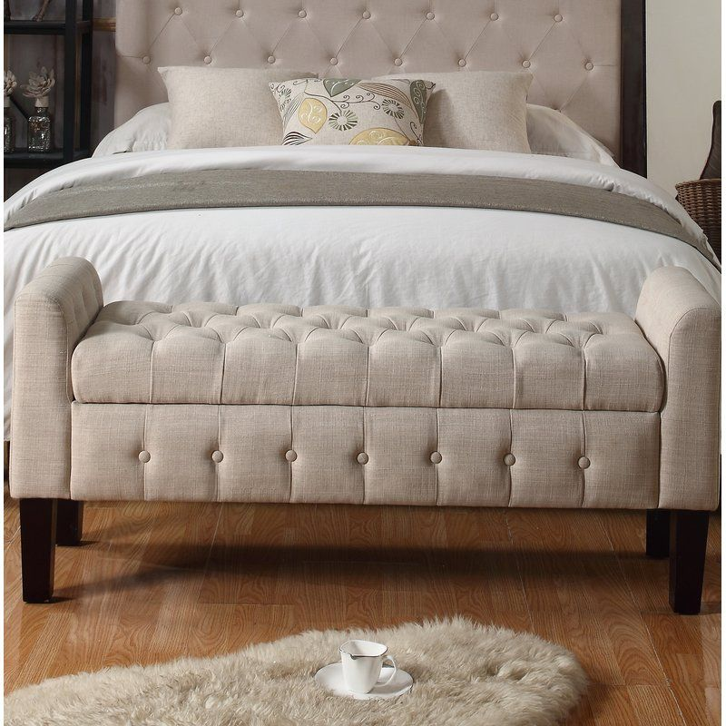 Throggs Upholstered Storage Bench Reviews Birch Lane Storage Bench Bedroom Bed Bench Storage End Of Bed Bench