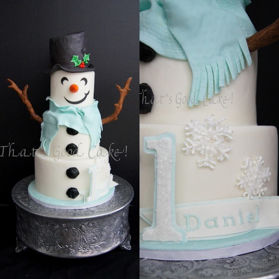 Awesome snowman cake