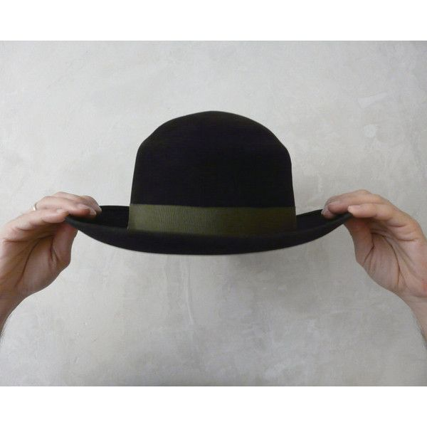 Vintage Black Hat. Unisex Black Hat. Felt Black Hat. 55cm. (60 CAD ... a2c985efe9ee