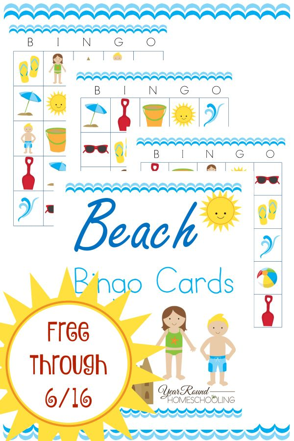 graphic about Printable Beach Pictures identify Printable Beach front Bingo Playing cards Should really-Adhere to Homeschool