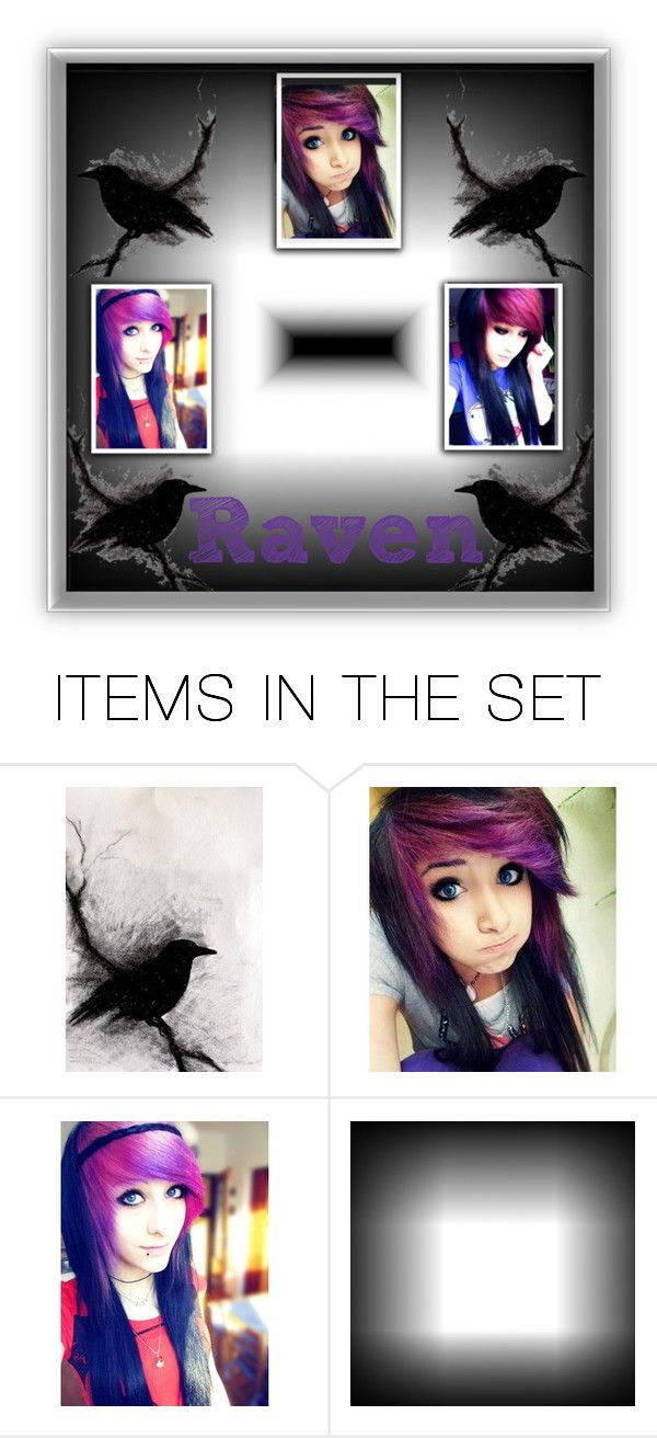 """Raven"" by crystal0248 ❤ liked on Polyvore featuring art"