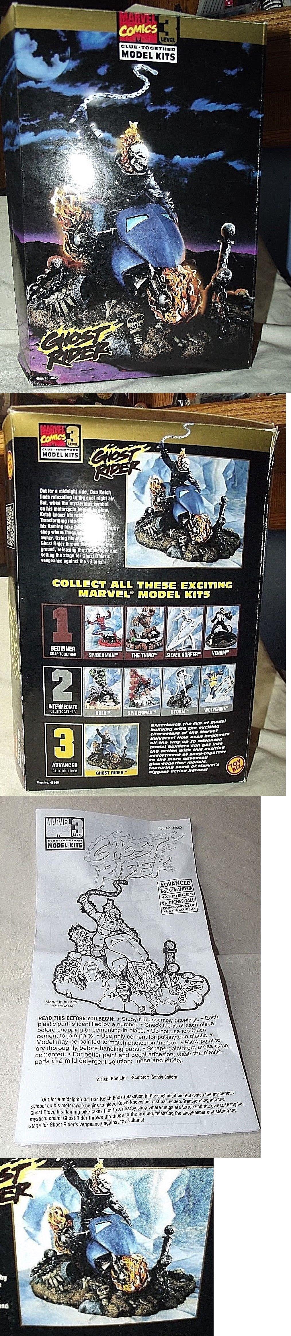 Super Hero 2593: Dc Marvel Comics Ghost Rider Glue Model Kit