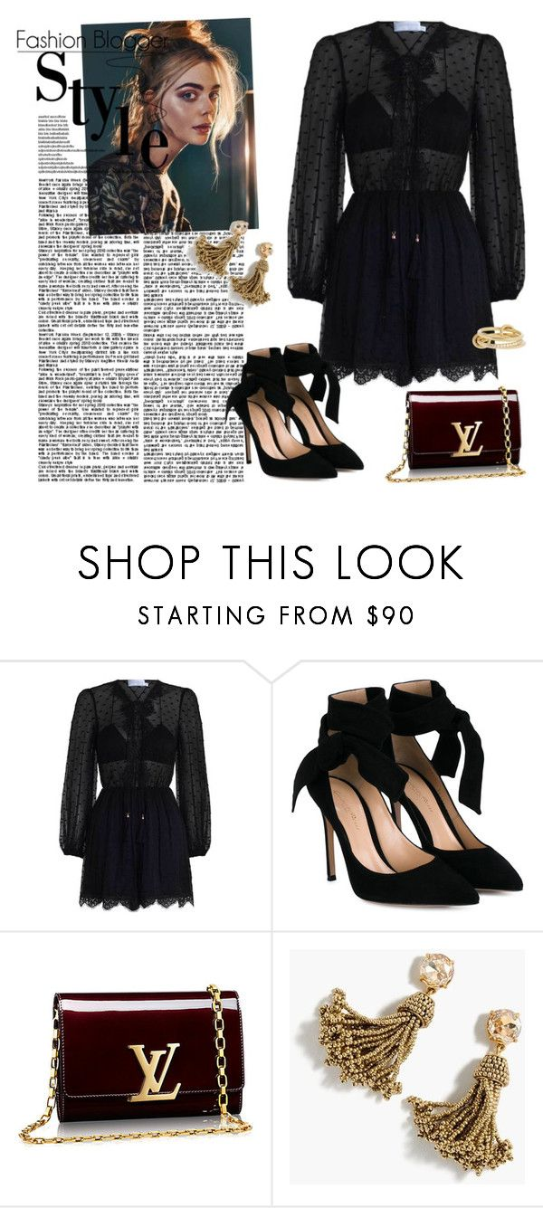 """""""Untitled #452"""" by vasso960 ❤ liked on Polyvore featuring Zimmermann, Gianvito Rossi, J.Crew and SPINELLI KILCOLLIN"""