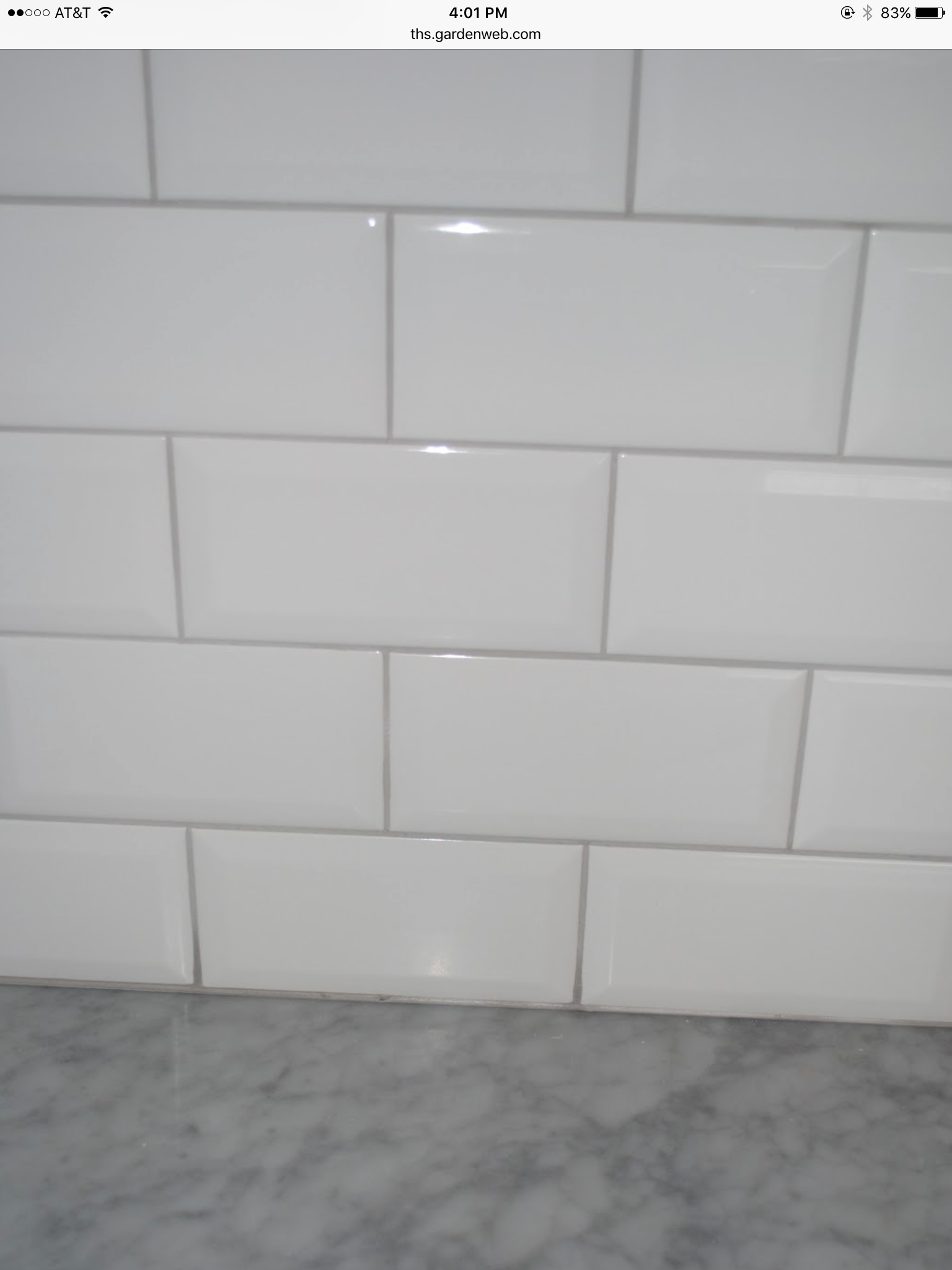 Subway Tile With A Oyster Gray Grout In 2019 White