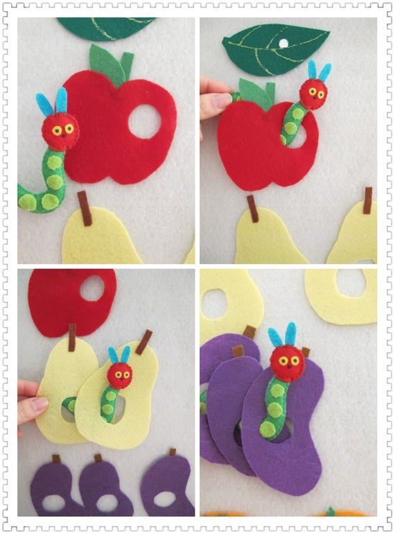 The Very Hungry Caterpillar Felt Food Set/Felt Board Activity Set/Flannel Board/Educational/Preschool/Creative Play/Teaching Set/Circle Time #kunstoghåndverk