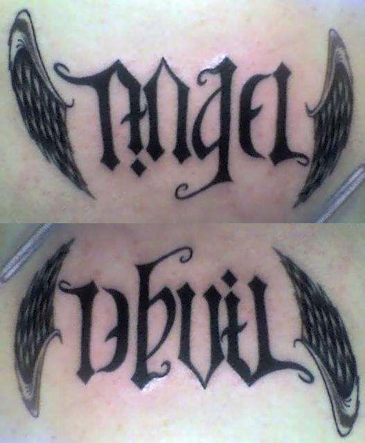 angel devil shoulder tattoo - photo #39