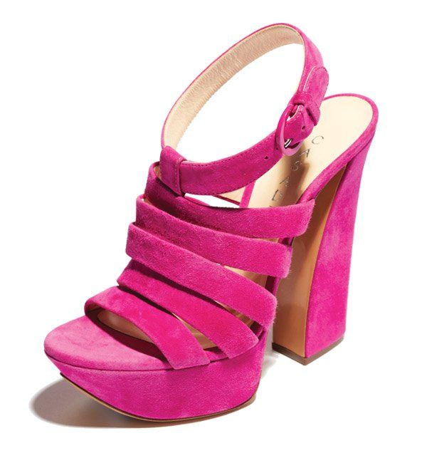 Pink and suede-LOVE!